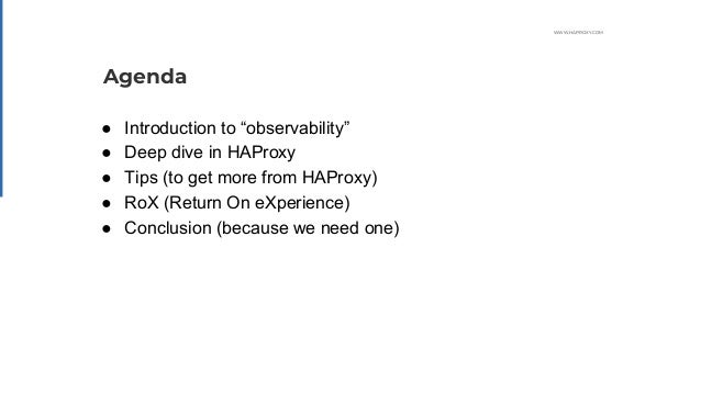 Observability with HAProxy Slide 2