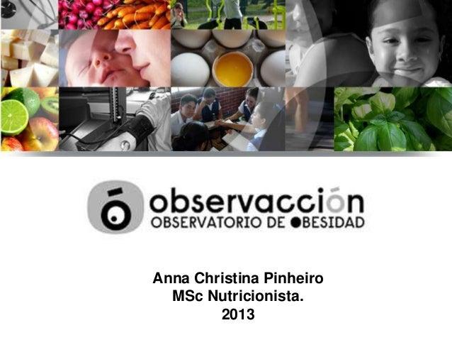 Anna Christina Pinheiro MSc Nutricionista. 2013