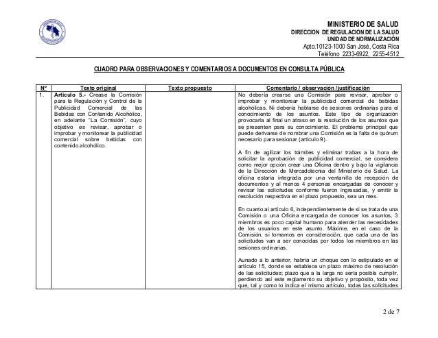 MINISTERIO DE SALUD                                                                                  DIRECCION DE REGULACI...