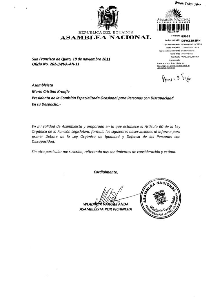 OBSERVACIONES PARA SEGUNDO DEBATE DELPROYECTO DE  LEY ORGÁNICA DE IGUALDAD Y DEFENSA DE LAS  PERSONAS CON DISCAPACIDAD REA...