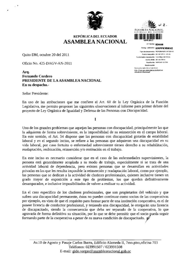 ASAMBLEA NACIONAL                                                                           K l P v U l H A               ...