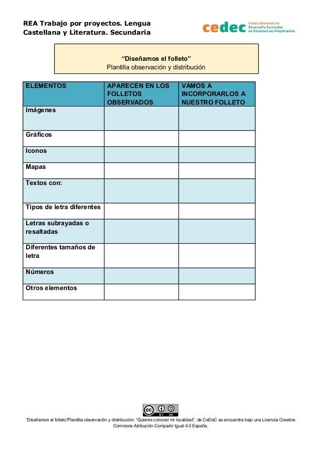 Plantilla de observación y distribución para un folleto turístico