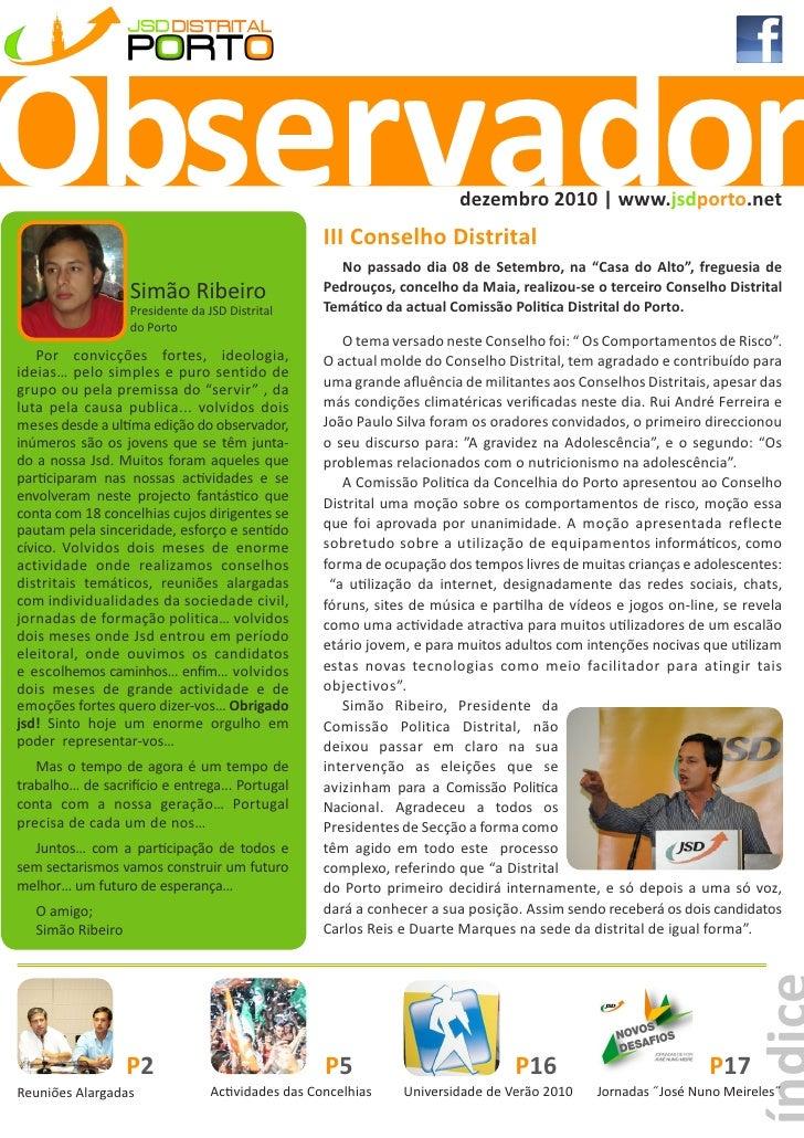 Observador                                                               dezembro 2010 | www.jsdporto.net                 ...