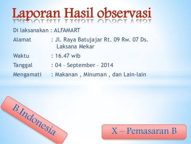Tugas Bhs Indonesia Observasi Alfamart