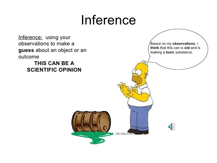 Observation Vs Inference