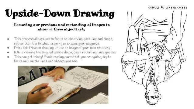 Upside Down Contour Line Drawing : Observational drawing workout