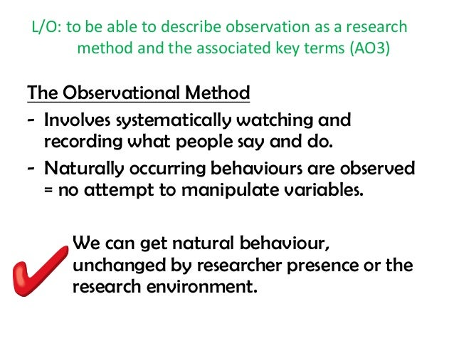 6.5 Observational Research – Research Methods in Psychology