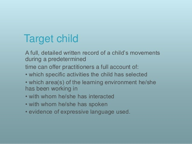 Child Care Observation Templates