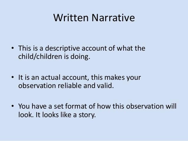 observation narrative Observation narrative essay, homework timetable creator, thesis and outline creator हमारे स्कूल की छात्रा.