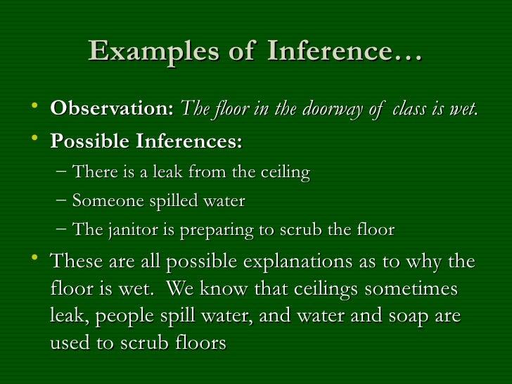 Observation Inference Presentation