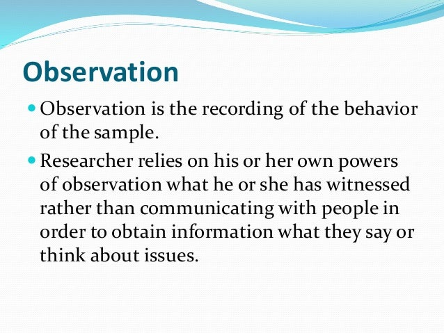 qualitative observational research Qualitative research is multimethod in focus, involving an interpretive, naturalistic approach to its subject matter this means that qualitative researchers study.