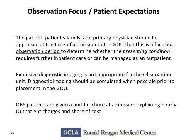 Observation medicine nursing considerations