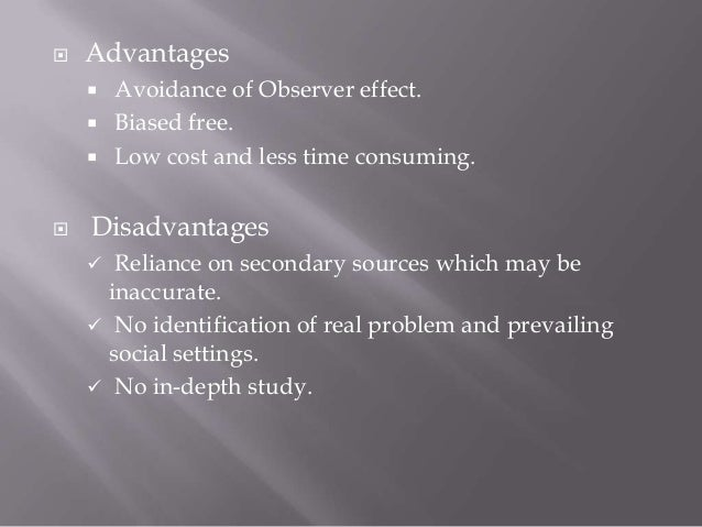 advantages and disadvantages of naturalist observation