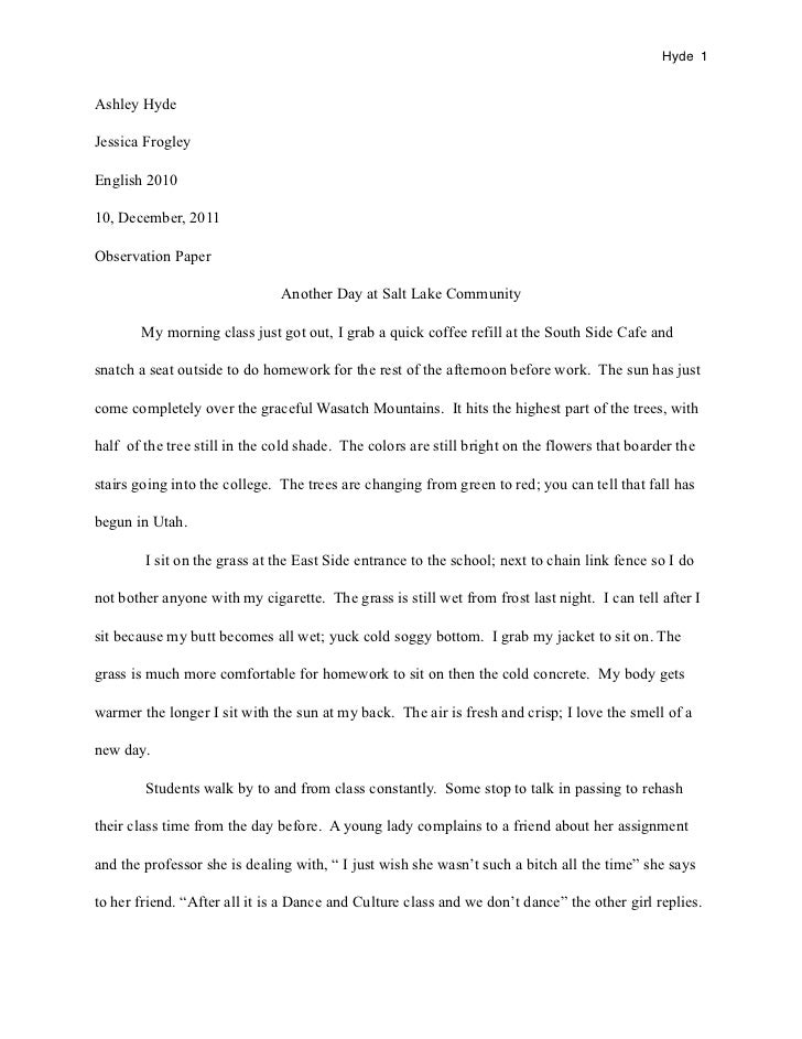 Observation Essay on a Wedding