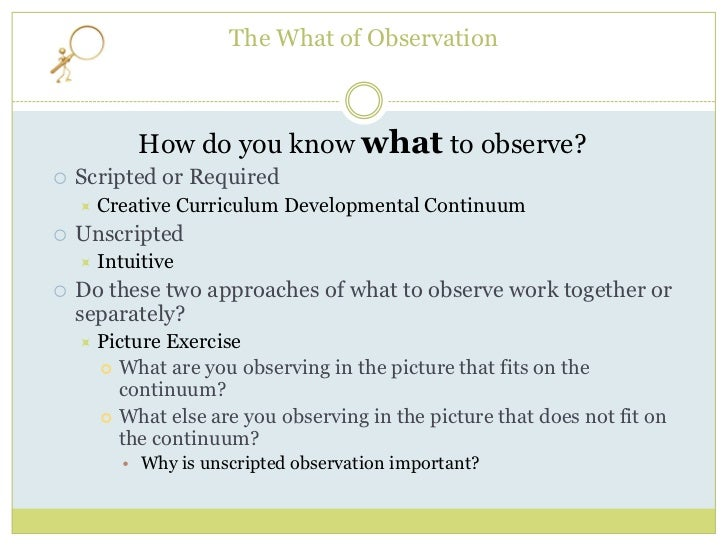 observation exercise the importance of a Observation quotes from brainyquote, an extensive collection of quotations by famous authors, celebrities, and newsmakers.