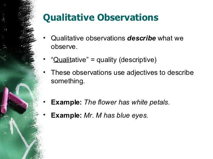 Observations vs Inferences