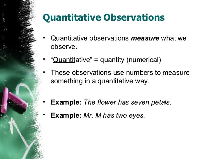 Observations vs Inferences