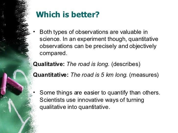 Observations vs Inferences – Qualitative Vs Quantitative Worksheet