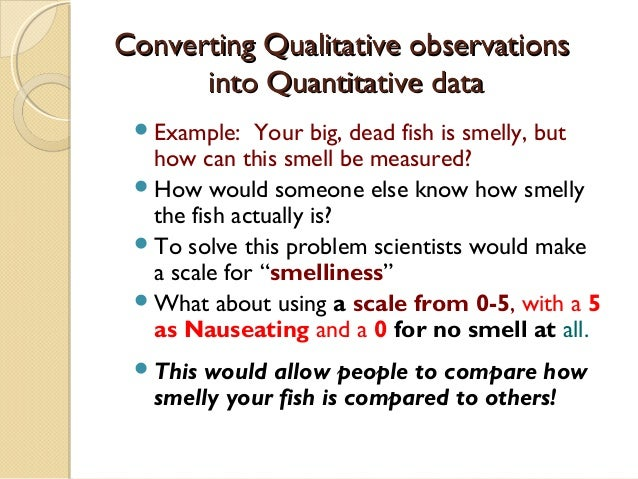 Quantitative And Qualitative Observations Worksheet ...
