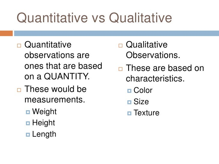 Qualitative Vs Quantitative Worksheet