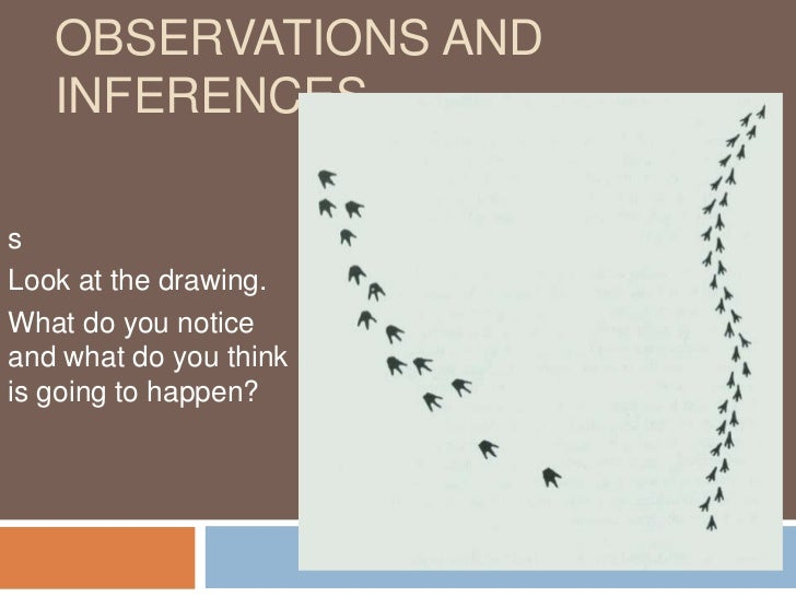 Observations and Inferences<br />s<br />Look at the drawing. <br />What do you notice and what do you think is going to ha...