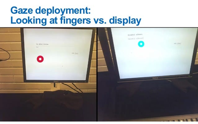 4. Fast typists keep gaze on display