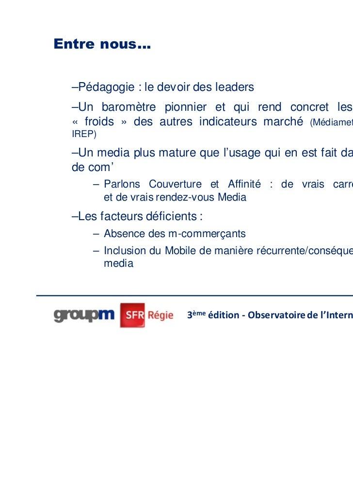 Entre nous…  –Pédagogie : le devoir des leaders  –Un baromètre pionnier et qui rend concret les enseignements  « froids » ...