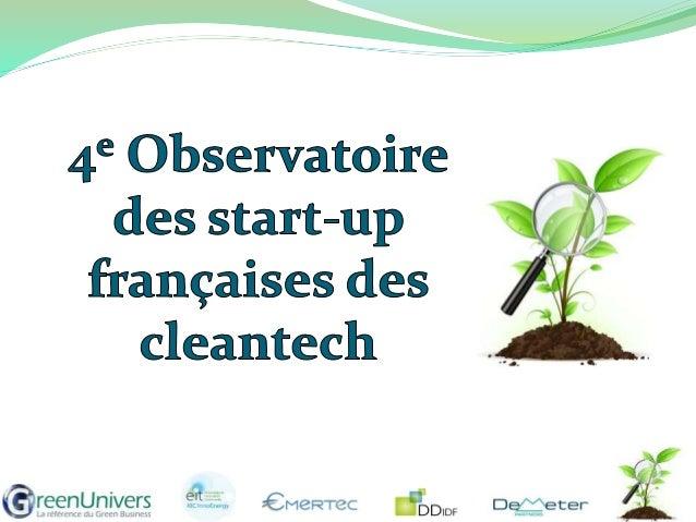  Leader de l'information économique et financière sur les cleantech en France depuis 2008  Une base de données de plus d...
