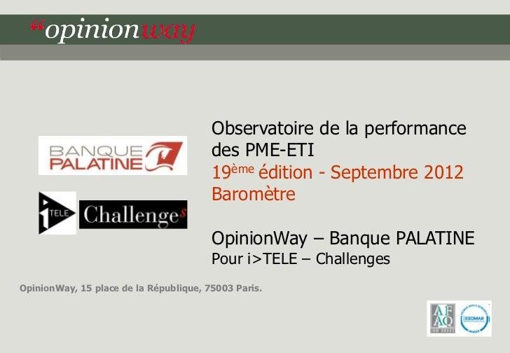 Observatoire de la performance                                        des PME-ETI                                        1...