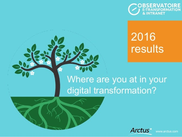 2016 results www.arctus.com Where are you at in your digital transformation?