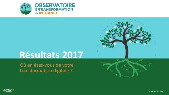 Observatoire e-transformation & intranet 1www.arctus.com Où en êtes-vous de votre transformation digitale ? Résultats 2017