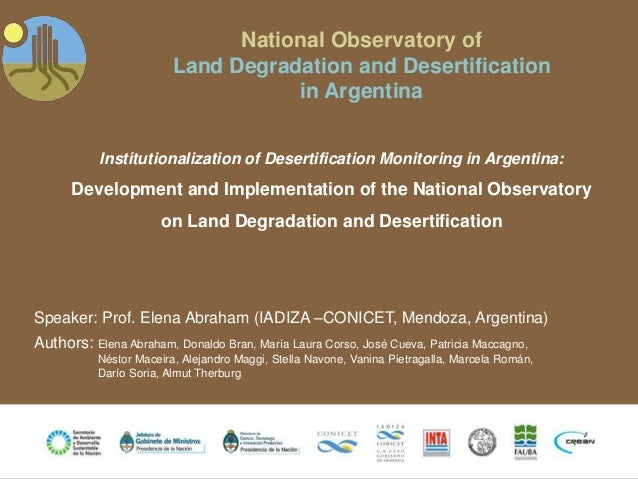 National Observatory of                         Land Degradation and Desertification                                    in...