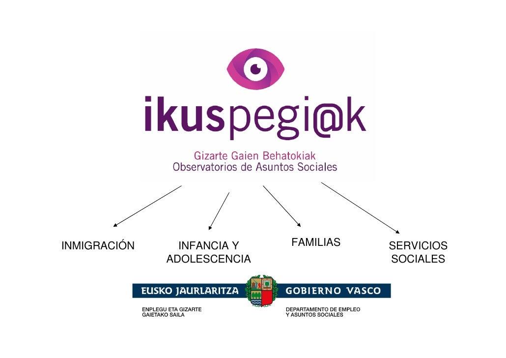 INMIGRACIÓN     INFANCIA Y   FAMILIAS   SERVICIOS              ADOLESCENCIA              SOCIALES