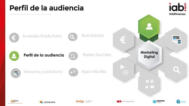 #IABFinanzas Perfil de la audiencia Inversión Publicitaria Perfil de la audiencia Mancha publicitaria Buscadores Redes Soc...