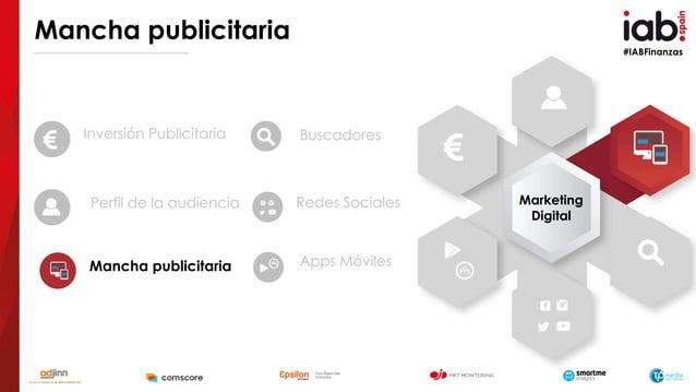 #IABFinanzas Mancha publicitaria Inversión Publicitaria Perfil de la audiencia Mancha publicitaria Buscadores Redes Social...
