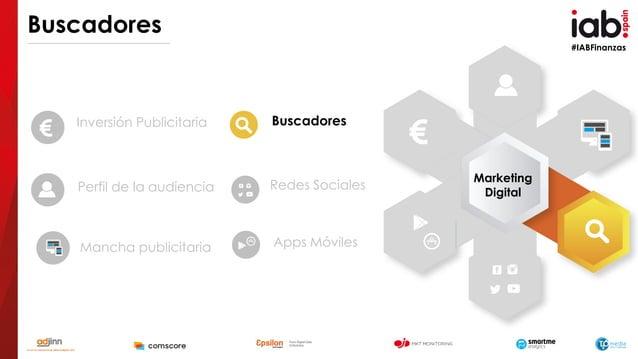 #IABFinanzas Buscadores Inversión Publicitaria Perfil de la audiencia Mancha publicitaria Buscadores Redes Sociales Apps M...
