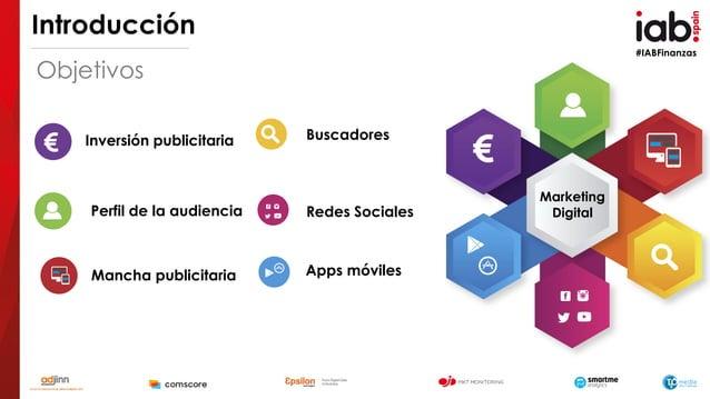 #IABFinanzas Introducción Objetivos Inversión publicitaria Perfil de la audiencia Mancha publicitaria Buscadores Redes Soc...