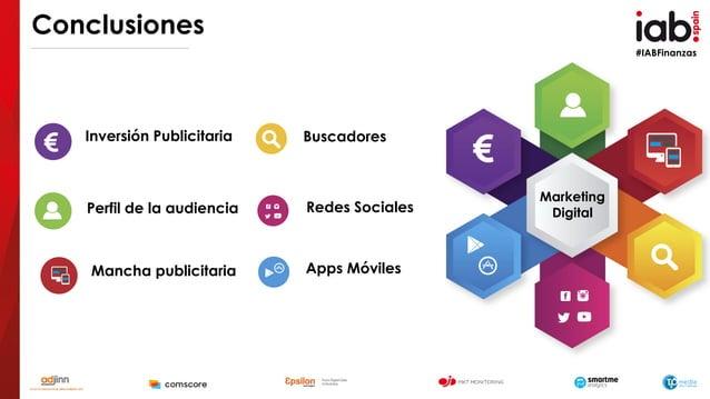 #IABFinanzas Conclusiones Inversión Publicitaria Perfil de la audiencia Mancha publicitaria Buscadores Redes Sociales Apps...
