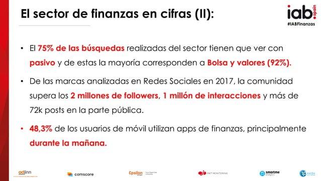 #IABFinanzas • El 75% de las búsquedas realizadas del sector tienen que ver con pasivo y de estas la mayoría corresponden ...