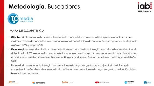 #IABFinanzas MAPA DE COMPETENCIA • Objetivo: Mostrar una clasificación de los principales competidores para cada tipología...