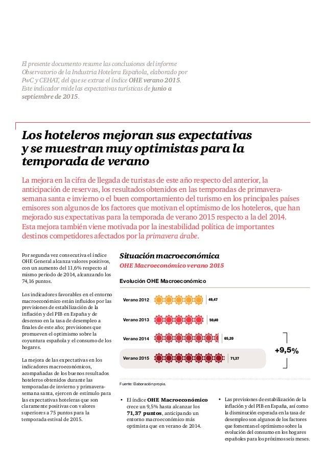 Observatorio industria-hotelera-verano-2015-resumen-ejecutivo Slide 2