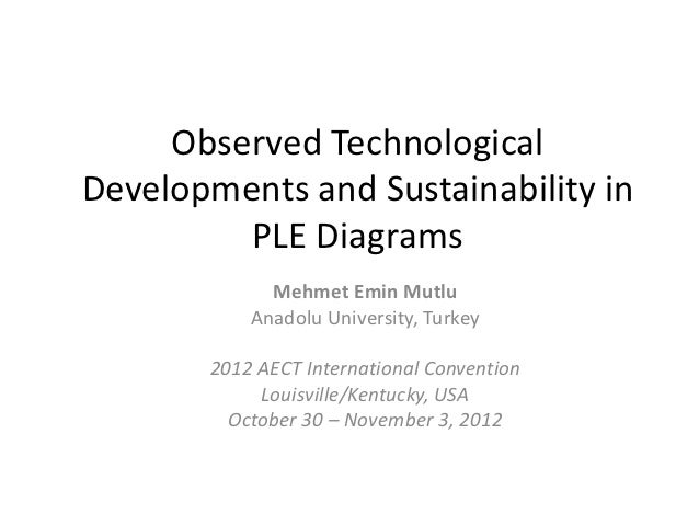 Observed TechnologicalDevelopments and Sustainability in         PLE Diagrams             Mehmet Emin Mutlu           Anad...