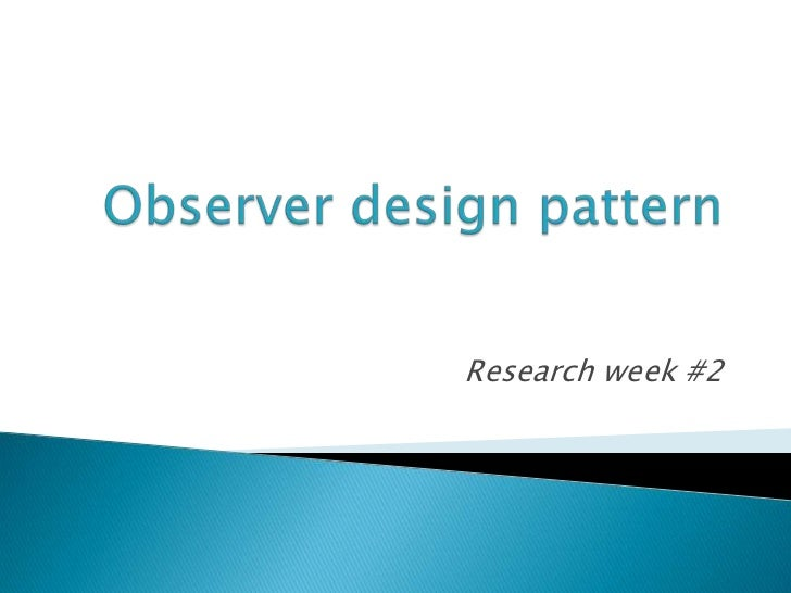 Research week #2