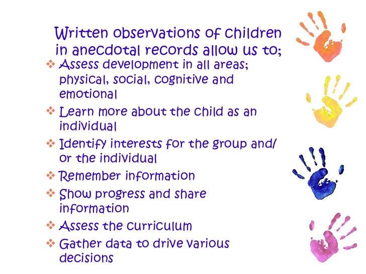 Observing children essays
