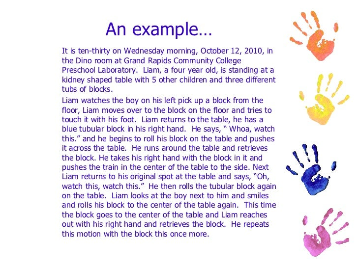 child development observation assignment example