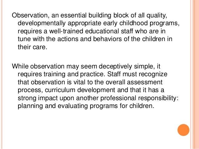 daycare observation essay