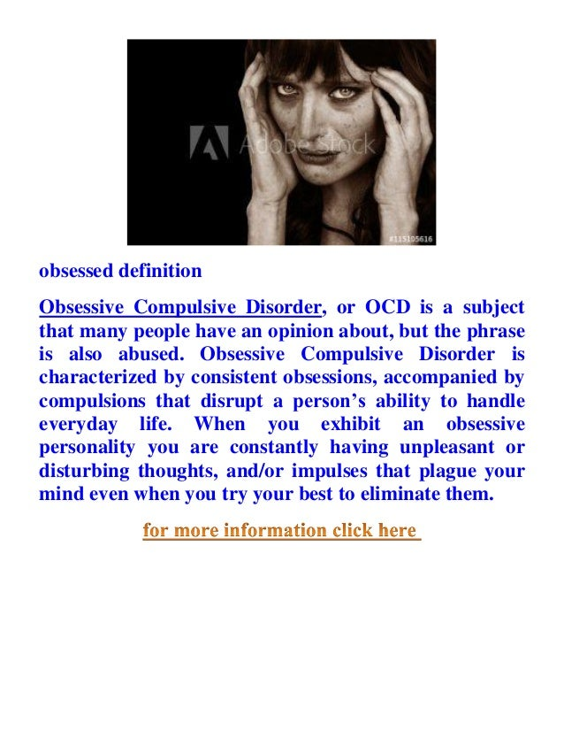 Obsessed Definition Obsessed Meaning In English