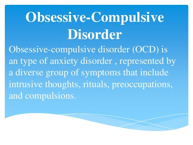 Dating someone with anxiety ocd disorder