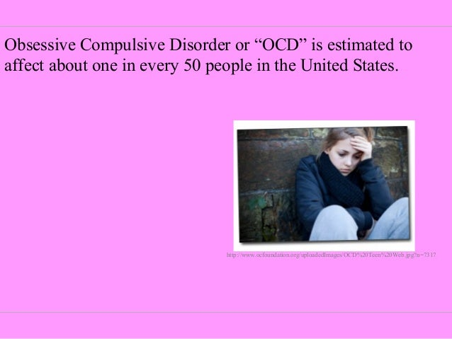 a brief introduction to ocd obsessive compulsive disorder Obsessive compulsive disorder (ocd) is a mental health condition characterized by the presence of obsessions and/or compulsions if you have ocd, you probably recognize that your obsessions and compulsions are irrational but even so, you feel unable to resist them and break free.