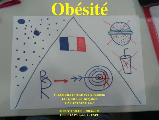 Obésité CHAMERAT-DUMONT Alexandra JACQUILLET Benjamin LAFONTAINE Loïc Master 2 MEEF – 2014/2015 UFR STAPS Lyon 1 - ESPE